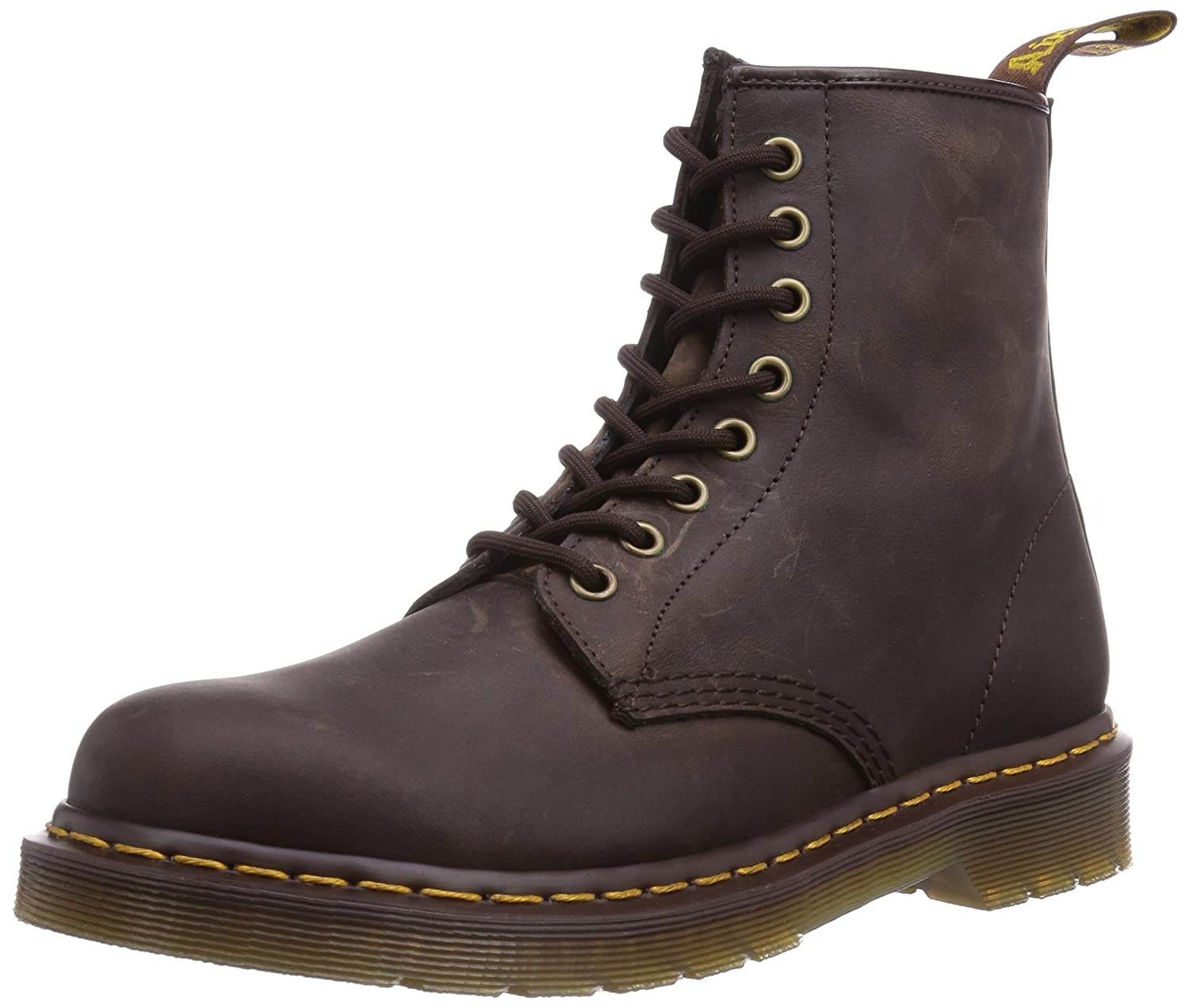 Dr. Martens Men's 1460 Combat Boot, 8.5 B(M) US Women/7.5 D(M) US Men B001N1OFIS 8 M UK (9 US)|Gaucho Crazy Horse