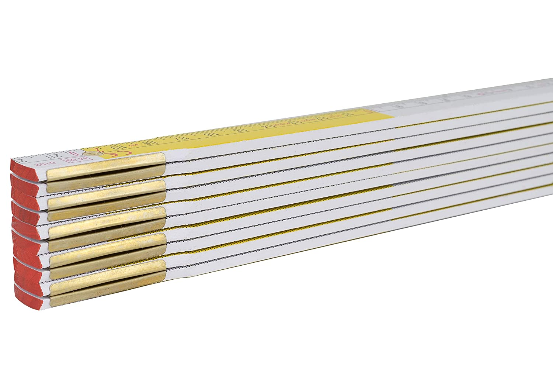 20 X Stabila Zollstock Meterstab 2 m Meter Gelb Wei/ß SERIE Gliederma/ßstab