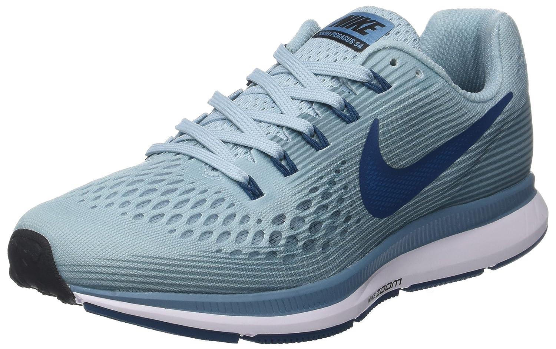 Nike Wmns Air Zoom Pegasus 34, Zapatillas de Entrenamiento Para Mujer 40.5 EU|Multicolor (Ocean Bliss / Blue For 408)
