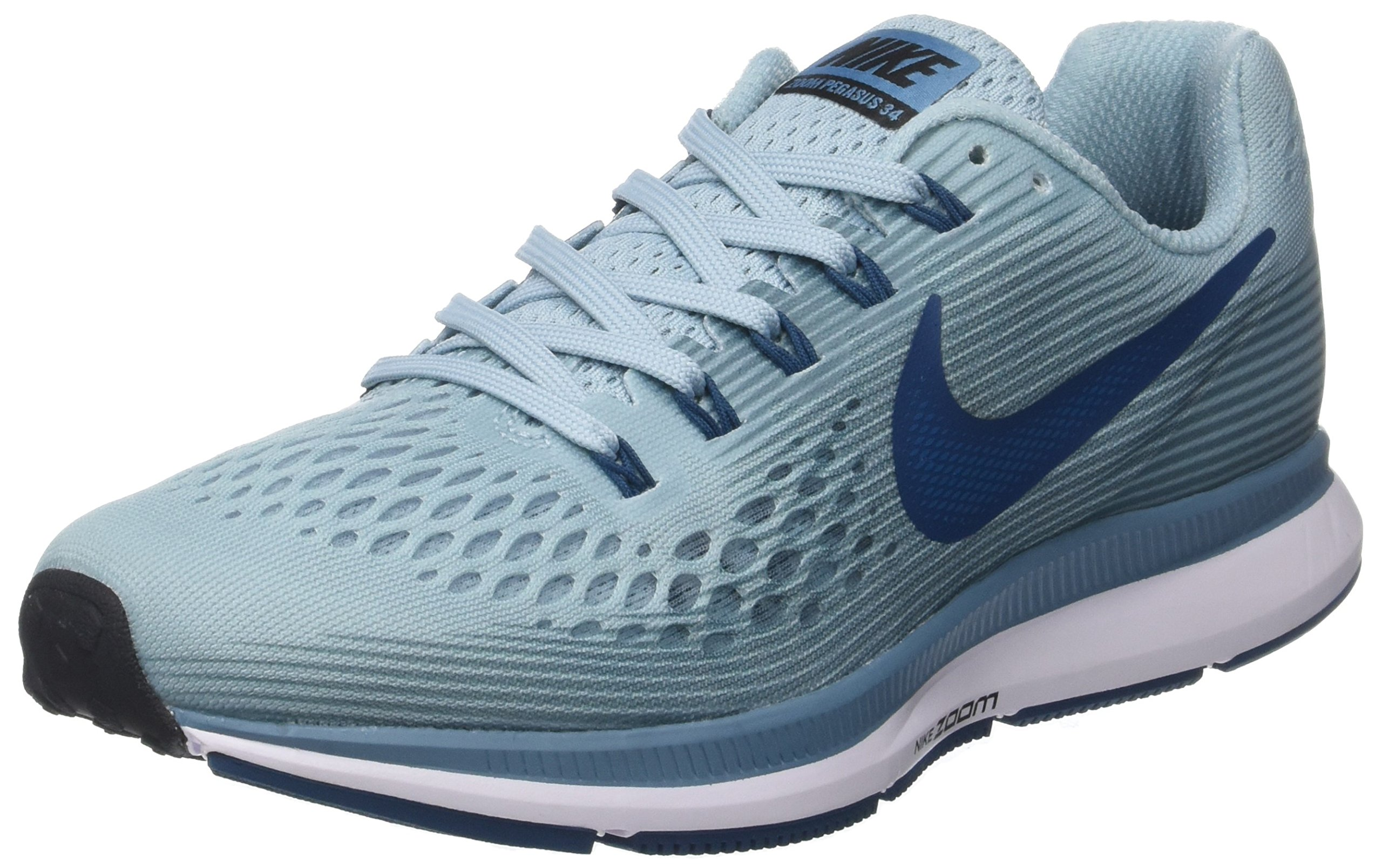 964a2d6bacd9c Nike Women's Air Zoom Pegasus 34 Running Shoes (Ocean Bliss/Blue Force, 7.5  M US)