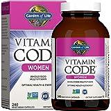 Garden of Life Multivitamin for Women, Vitamin Code Women's Multi - 240 Capsules, Whole Food Womens Multi, Vitamins, Iron, Fo