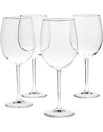 bb2dd2c0bd8 AmazonBasics All-Purpose Wine Glasses - 19-Ounce