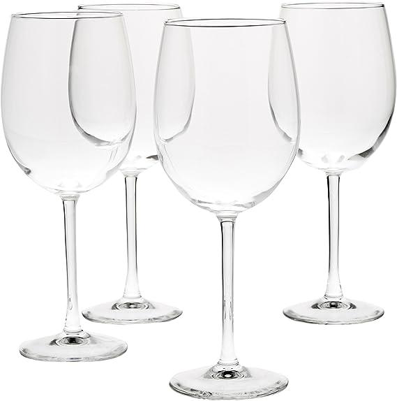 Amazon Basics All Purpose Wine Glasses 19 Ounce Set Of 4 Wine Glasses Amazon Com