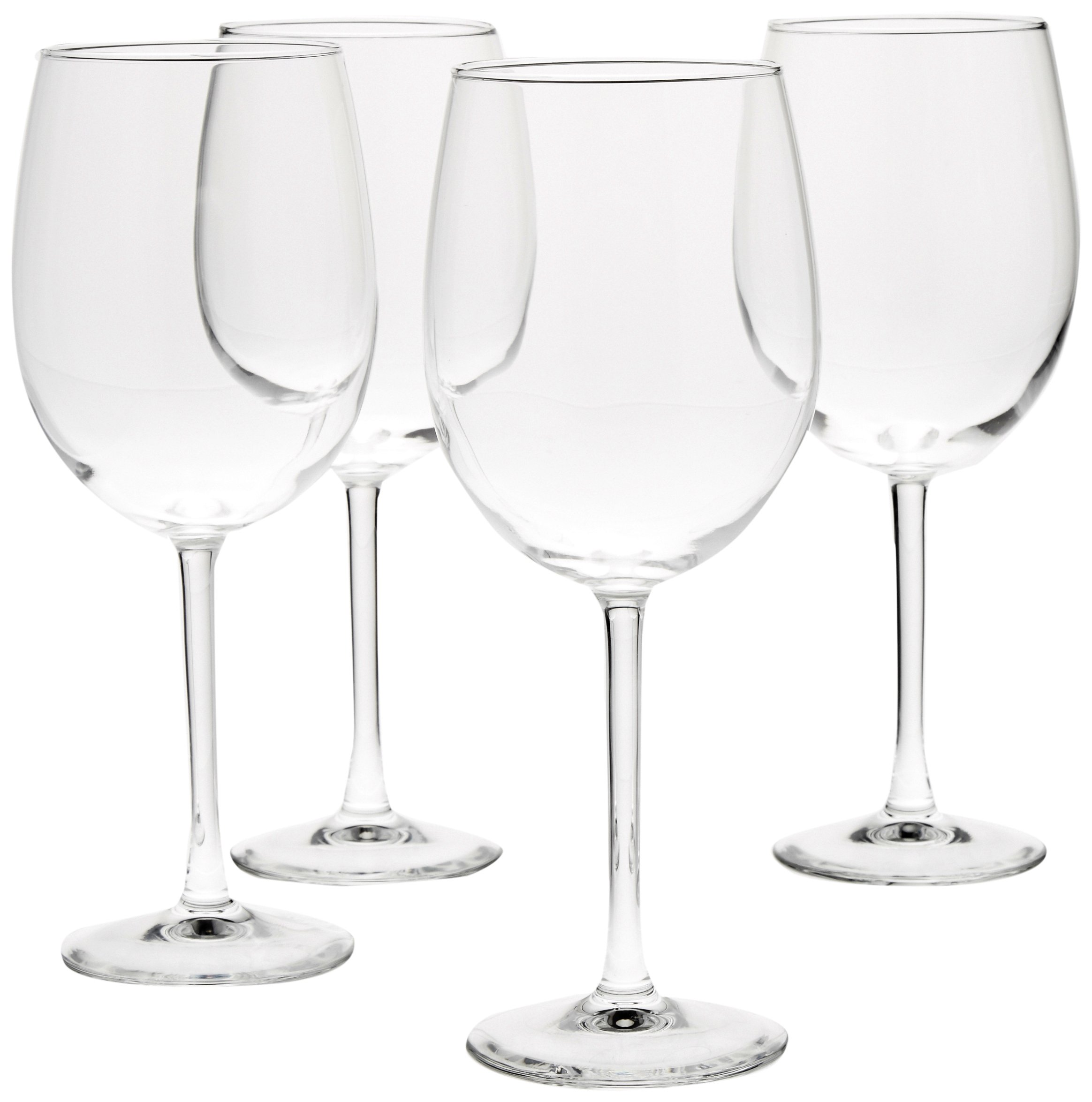 AmazonBasics All-Purpose Wine Glasses, 19-Ounce, Set of 4 by AmazonBasics