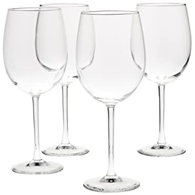 AmazonBasics All-Purpose Wine Glasses, 19-Ounce, Set of 4