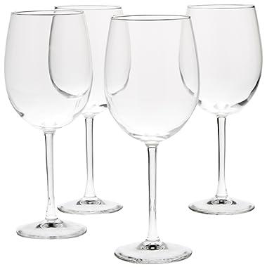 AmazonBasics All-Purpose Wine Glasses - 19-Ounce, Set of 4