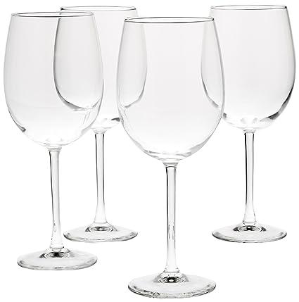 Amazoncom Amazonbasics All Purpose Wine Glasses 19 Ounce Set