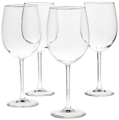 ce157d7ec3a AmazonBasics All-Purpose Wine Glasses, 19-Ounce, Set of 4