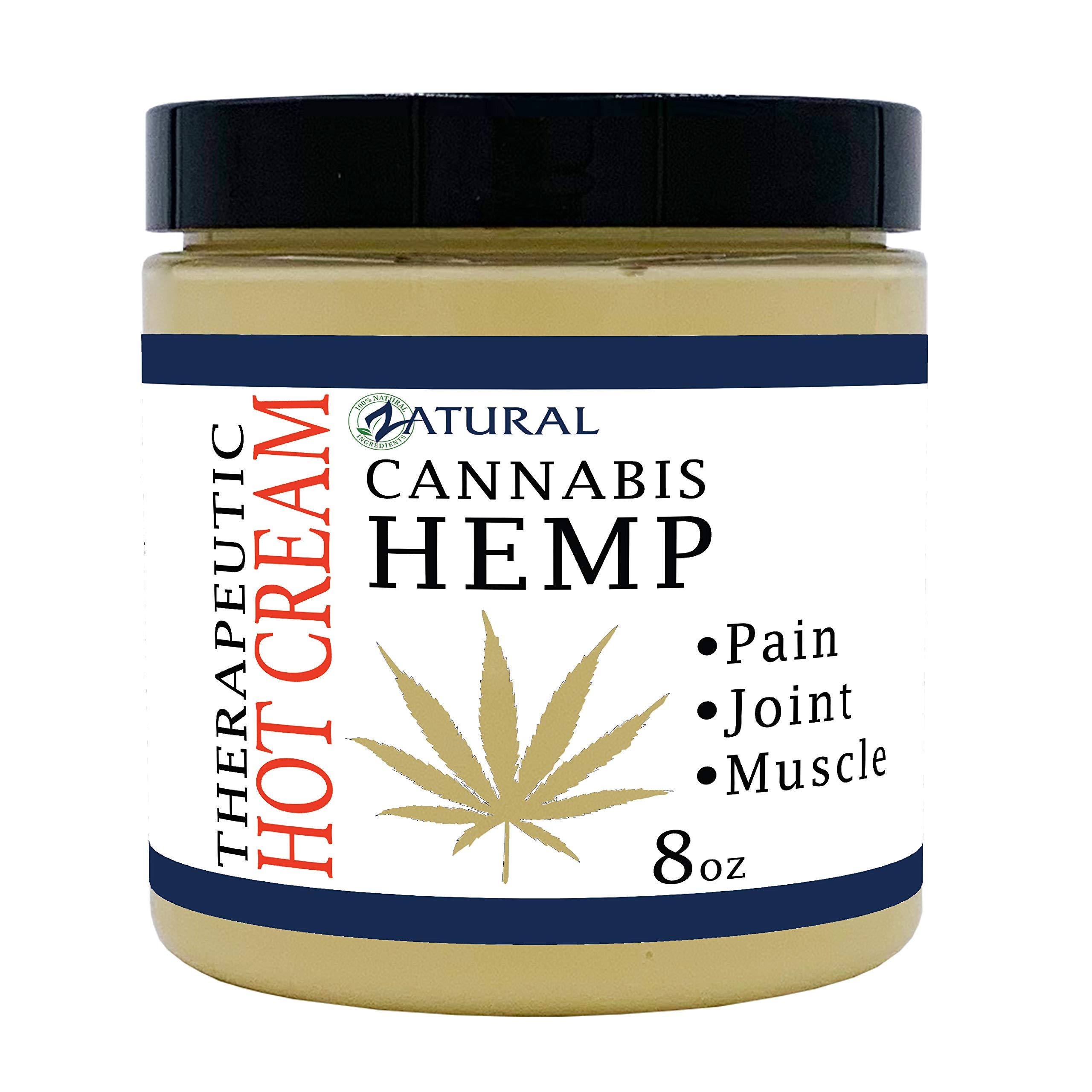 Hemp Hot Cream-Hemp Oil-Organic Hot Cream-Anti Cellulite-Muscle Cream-Pain Support by Zatural