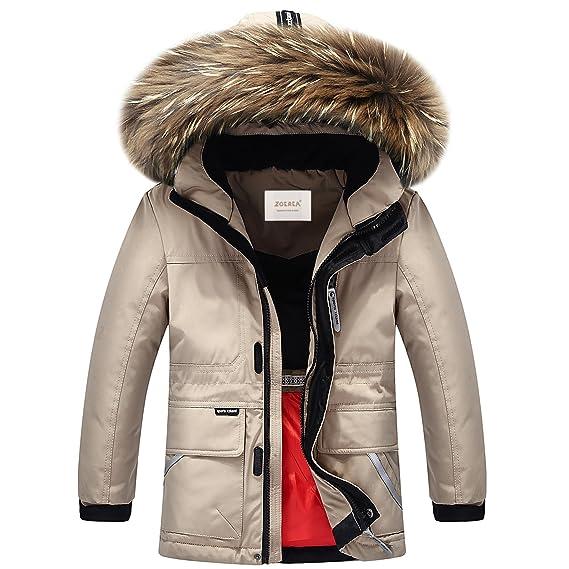 Zoerea - Abrigo para la nieve - chaqueta guateada - para niña caqui Etiqueta 100 cm