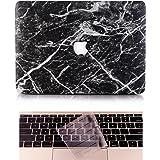 L2W Apple Custodia MacBook Air Case Plastica Cover Rigida Duro Caso per MacBook Air 13 Pollici (Modello:A1466/A1369) Inclusi Trasparente Copertura della tastiera,Marmo Nero