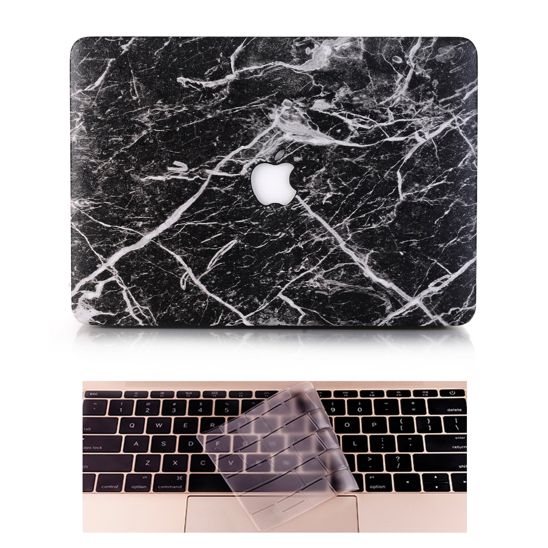 Inclusi Trasparente Copertura della tastiera,Marmo Nero Modello:A1502//A1425 L2W Apple Custodia MacBook Pro Case Plastica Cover Rigida Duro Caso per MacBook Pro Retina 13 Pollici