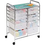 Honey-Can-Do Oficina Organizador, Carrito para estudio, 12 gavetas, Cromado, 8, 1