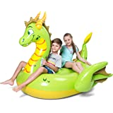 JOYIN Inflatable Storybook Dragon Pool Float, Fun Beach Floaties, Swim Party Toys, Pool Island, Summer Pool Raft Lounge for Adults & Kids