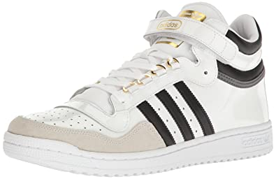 low priced 2c6a9 cc4d3 adidas Originals Mens Concord II MID Fashion Sneaker  WhiteBlackMetallicGold 10