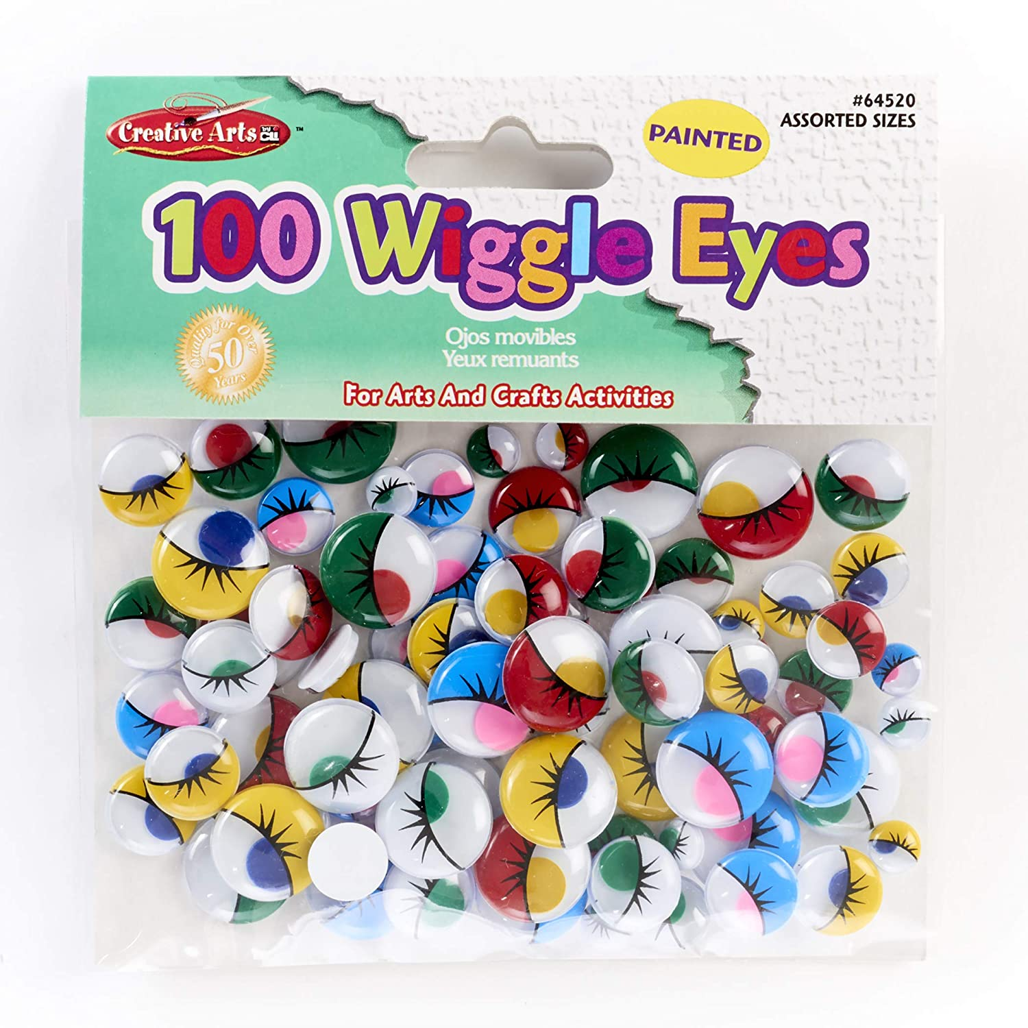60 -Piece Pack 6 Pack AC3437-02 Creativity Street Peel and Stick Wiggle Eyes Multi-Pack