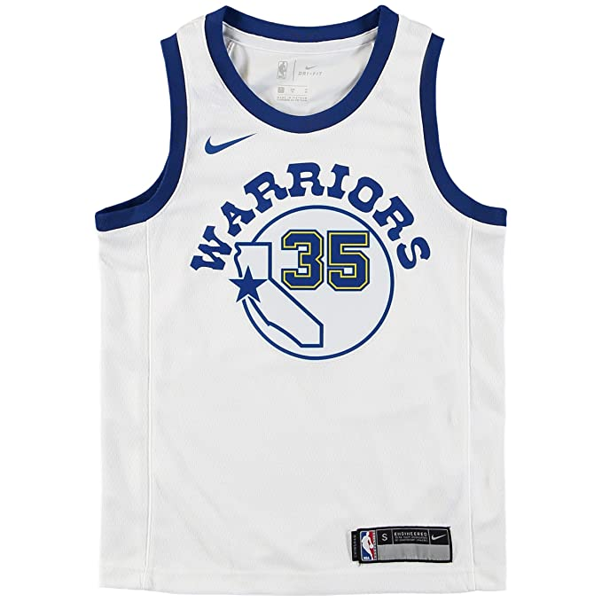 Nike NBA Golden State Warriors Kevin Durant KD35 2017 2018 Harwood Classic Edition HWC Jersey Oficial, Camiseta de Niño: Amazon.es: Ropa y accesorios