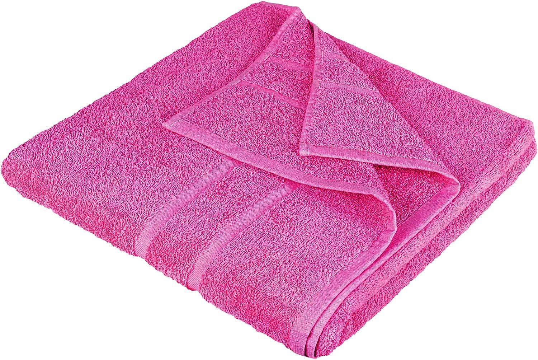 1x Premium Frottee Badetuch 100x150 cm in pink von StickandShine in 500g//m/² aus 100/% Baumwolle /Öko-TEX Standard 100 Materialien