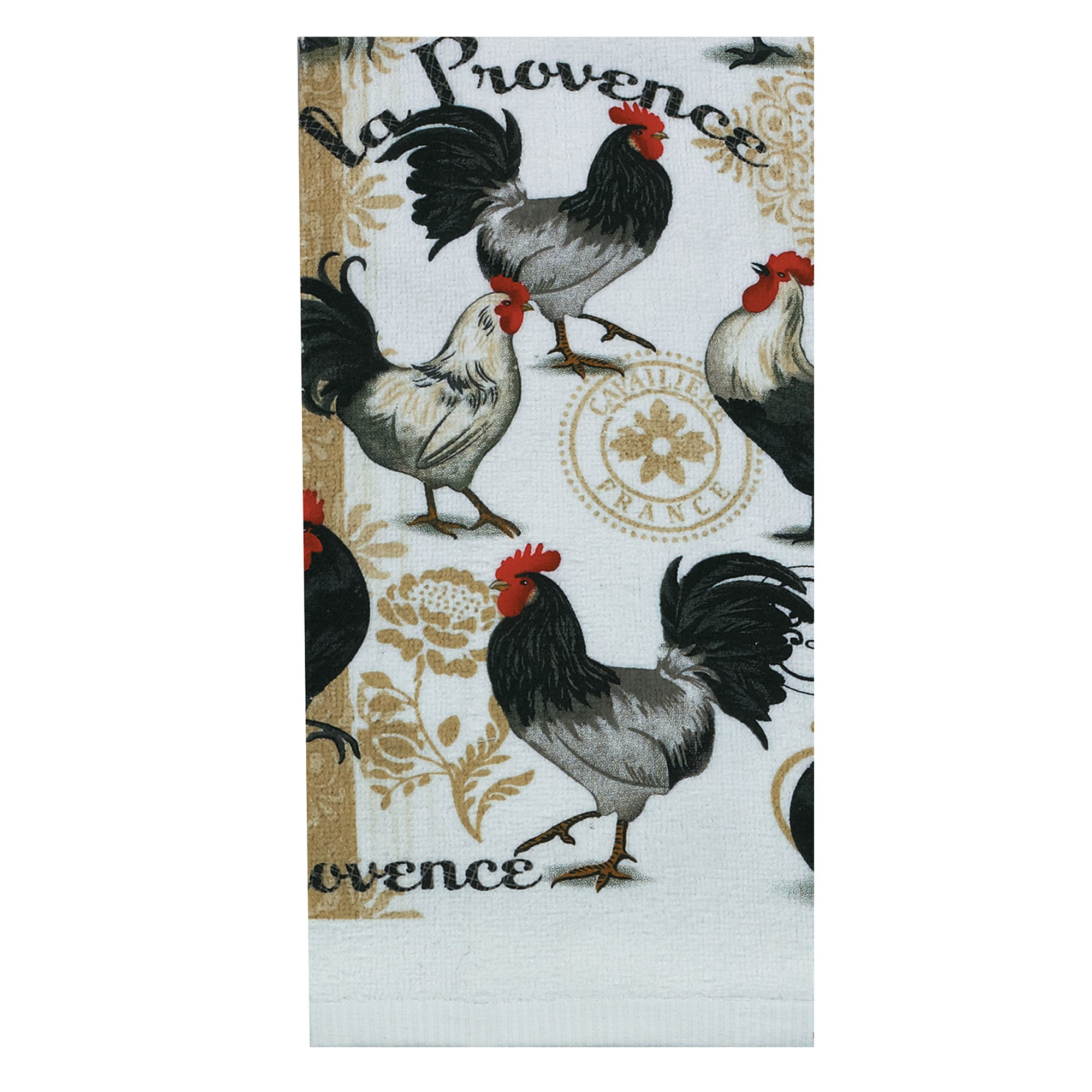 Kay Dee Designs R1780 La Provence Rooster Terry Towel