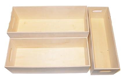Manualidades – Madera Cajas – chopo contrachapado – Rectangular – Interior 1 x aprox. 274