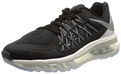 027346b1d7 NIKE Women's WMNS Air Max 2015, Black/Reflect SILVR-White-SMMT WHT