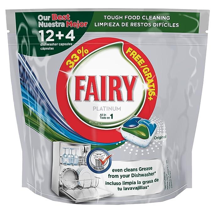 Fairy Lavavajillas 1 Unidad 400 g Lot de 2: Amazon.es: Salud y ...