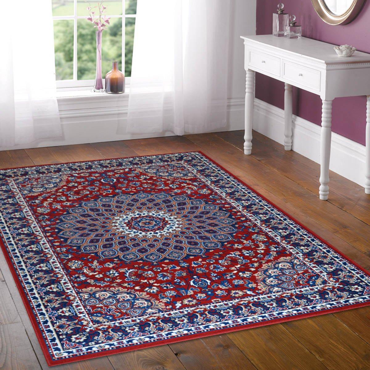 Rouge 1 pz Webtappeti 2pz Tapis motif classique persan cm.55x105 rouge cm.70x130 Royal Shiraz 2082-Red