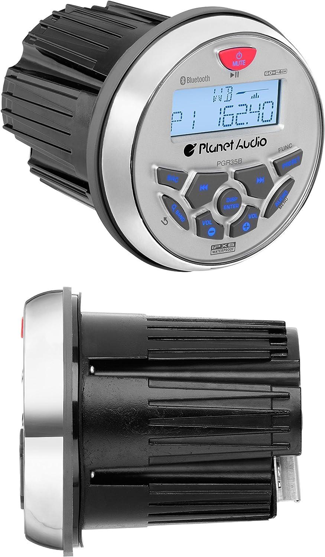 with Audio Streaming /& BOSS AUDIO 4-Inch 2-way All-terrain//marine Wake Tower Roll-bar Speaker System BOSS AUDIO MGR350B Marine Gauge MECH-LESS  Receiver