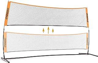 OUTROAD 3m Portable de Badminton Tennis Pickelball Practise Net, Support de Maintien, Hauteur réglable Bundle w/Sac de Transport