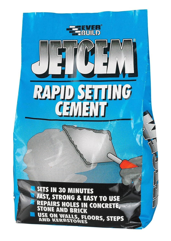JetCem Rapid Set Cement - Fast setting repair cement - 3kg - Grey Everbuild EVBJETCEM3