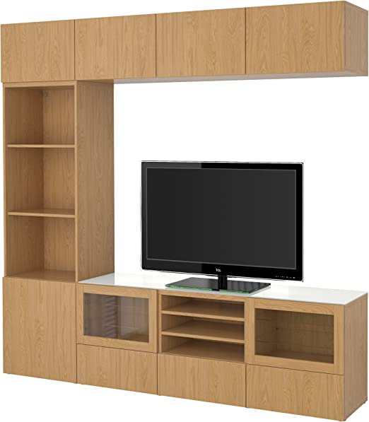 Ikea Besta Tv Combinaison De Rangement Portes En Verre