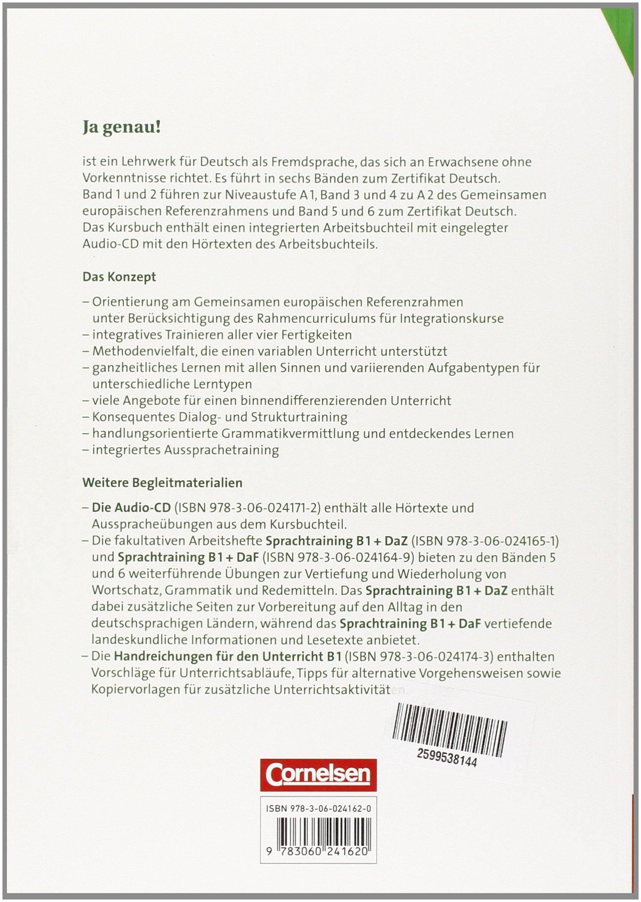 Ja Genau B12 Kurs Und Uebungsbuch Mit Loesungen Audio Cd