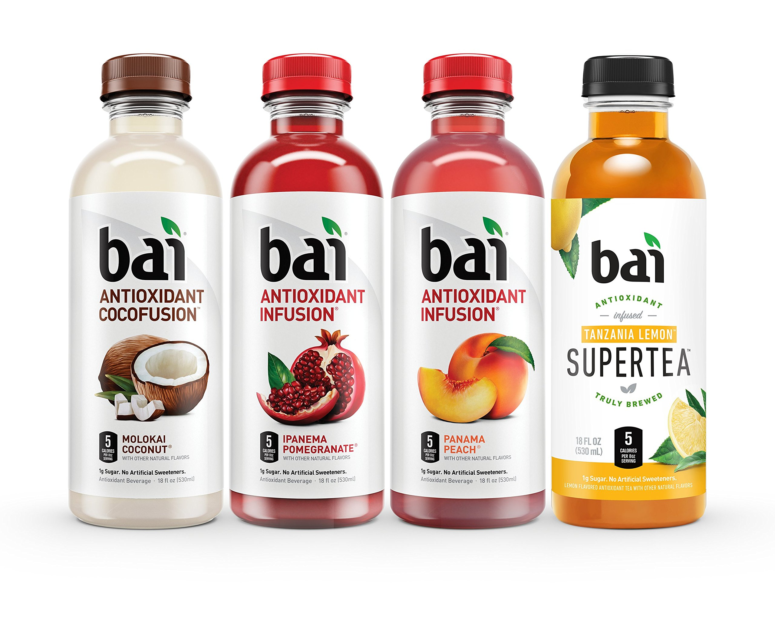 Bai Mountainside Variety Pack, Antioxidant Infused Beverage, 18 Fluid Ounce Bottles, 12 count