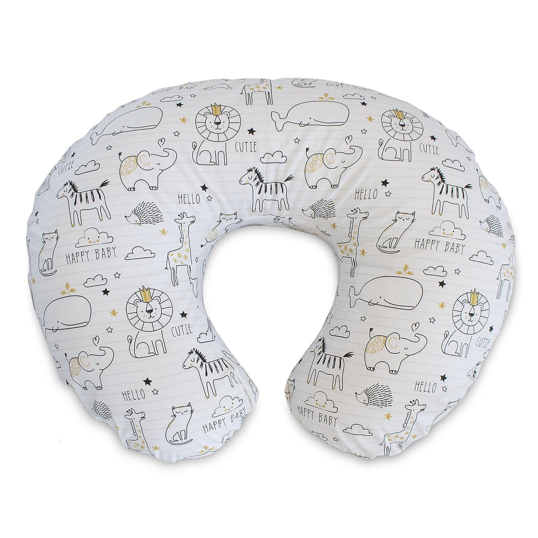 Boppy 3140547K AMC Pillow Slipcover, Organic Little Elephants, Gray 3140547K 6PK