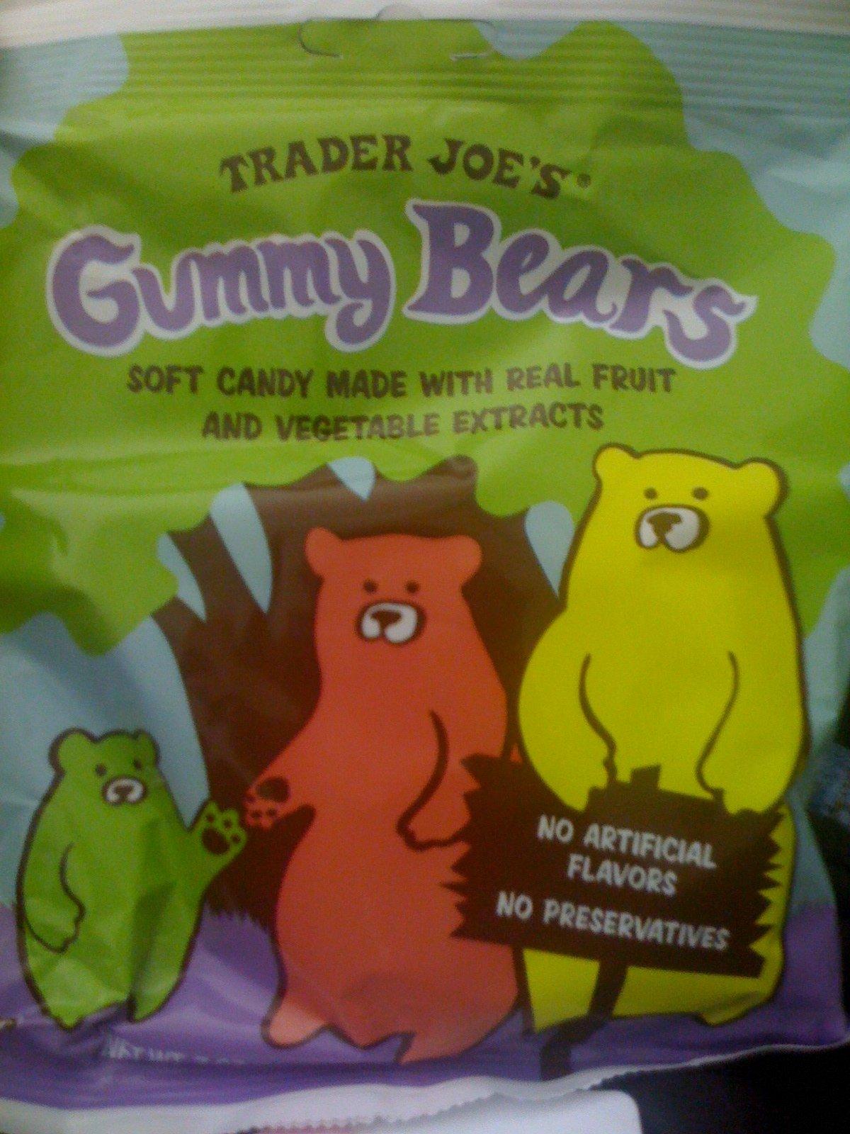 Trader Joe's Gummy Bears, Natural Real Fruit Candy, 7 Oz., (2 Pack)