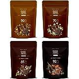 ChocZero's Dark Collection, Premium Dark Chocolate, Sugar Free, Low Carb. No sugar alcohols, All Natural, Non-GMO -4 Bags(50% Dark, 70% Dark, 85% Dark and 92% Dark, 40 pieces)