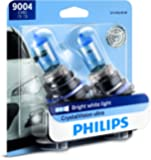 PHILIPS - 9004CVB2 Philips 9004 CrystalVision Ultra Upgrade Bright White Headlight Bulb, 2 Pack