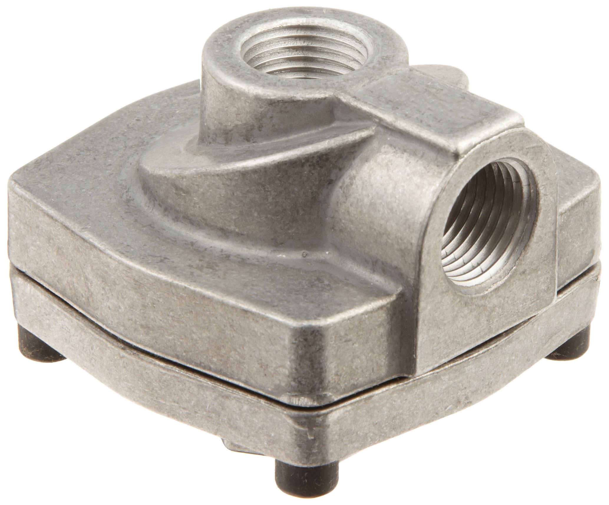 Parker 0R37VB Die Cast Aluminum Quick Exhaust Valve with Fluorocarbon Static Seal, 3/8'' NPTF Inlet x 3/8'' NPTF Cylinder x 3/8'' NPTF Exhaust, 240 scfm Flow, 3 - 150 psi
