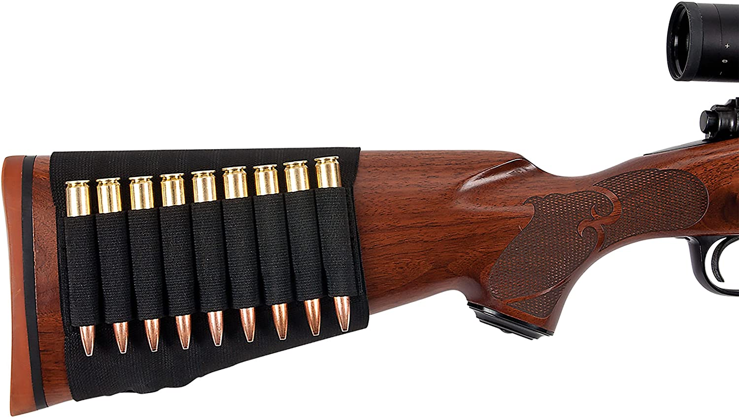 Allen Rifle Buttstock Shell/Cartridge Holder, fits most hunting rifles .270, 30.06, 6.5 creedmoor, 7mm : Gun Ammunition And Magazine Pouches : Sports & Outdoors