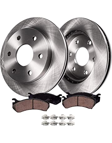 2 Ceramic Brake Pad Fits 2007-2011 2012 2013 GMC Acadia Brake Rotors 4 Front