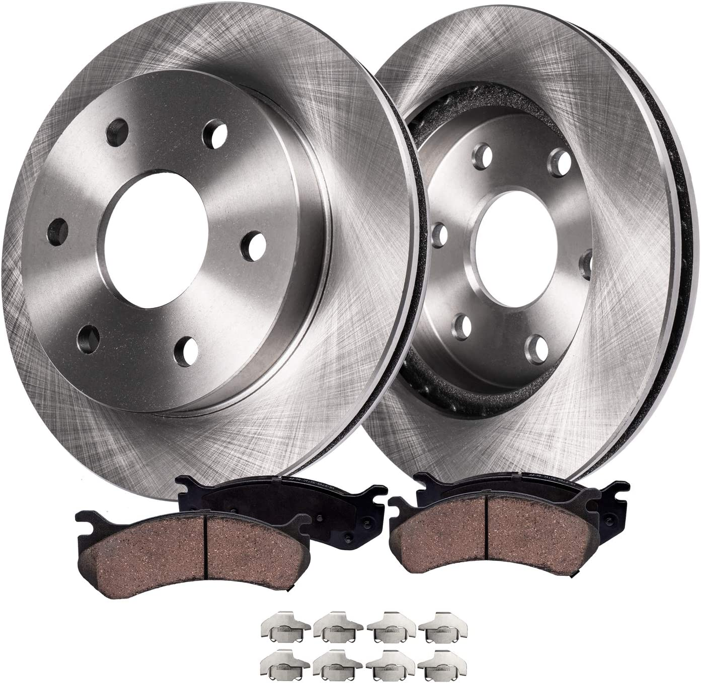 2007 2008 2009 2010 2011 Chevy Tahoe Rotors Metallic Pads R OE Replacement