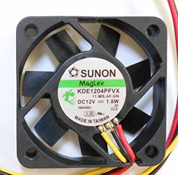 Sunon kde1204pfvx 12 V 1,8 W 3 Draht 40 x 40 x 10 mm Lüfter: Amazon ...