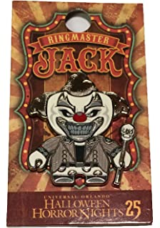 universal studios halloween horror nights 2015 25th anniversary jack the clown as the ringmaster metal trading