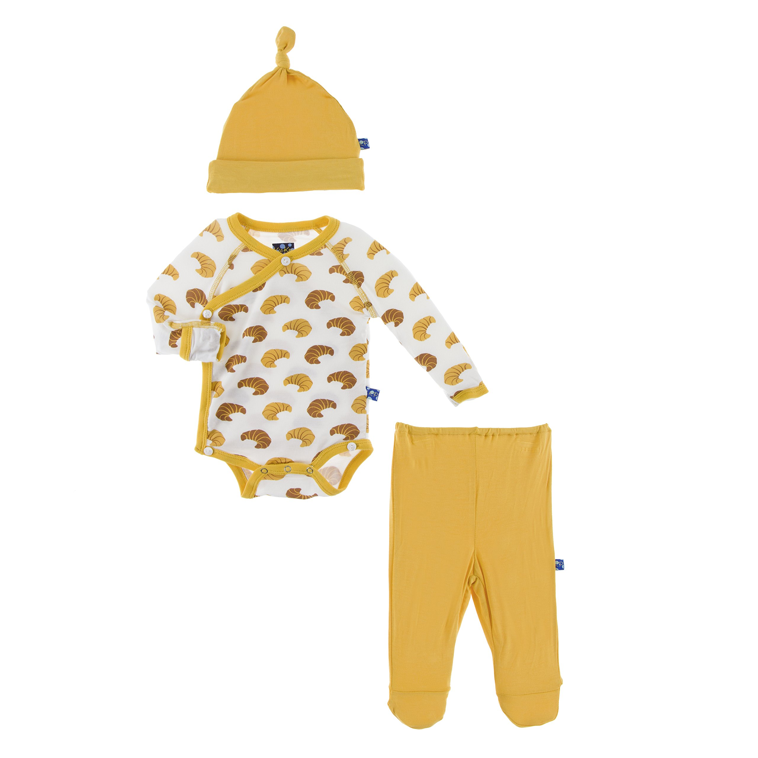 f1f9032cc729 KicKee Pants Little Boys Kimono Newborn Gift Set with Elephant Box -  Natural Cars and Trucks