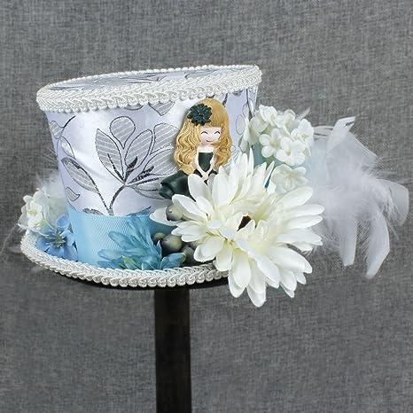 GHC gorras y sombreros Crema de marfil Mini ToP Hat, Sombrero de té, ...