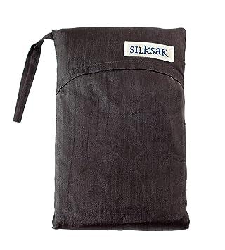 Silksak - Bolsa saco de dormir de seda para 2 personas (172 x 190 cm) negro negro: Amazon.es: Deportes y aire libre