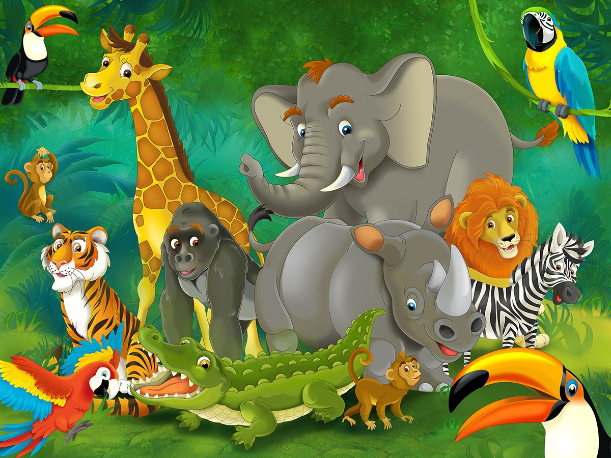 Resultado de imagen de jungle animals wallpaper