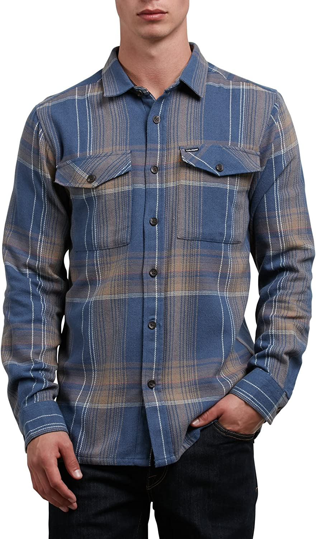 Volcom Hombre A0511804 Manga Larga Camisa de Botones - Azul - X-Small: Amazon.es: Ropa y accesorios