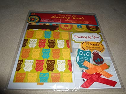 Amazon owl design create your own greeting cards kit 31464 owl design create your own greeting cards kit 31464 makes 3 cards m4hsunfo