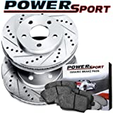 Front Drilled Slotted Brake Rotors and Ceramic Pad For 2000-2003 Camry,Sienna